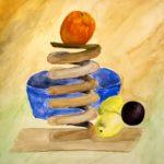Orange Buffer Studio watercolor by Pako Campo