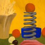 Orange Buffer Studio Egg Tempera by Pako Campo