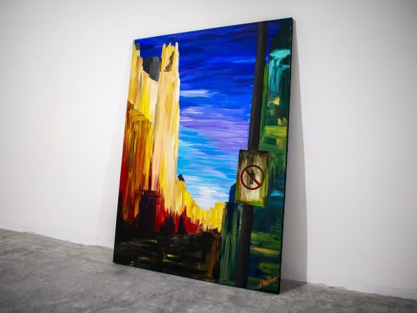 Gran Via without Humans - Acrylic painting on canvas by Pako Campo