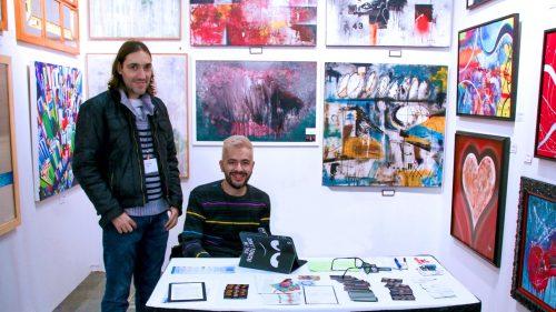Agencia EFE. El artista riojano que ha expuesto en NY simboliza diversidad con el color