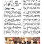 Diario La Rioja. Galardones con tinte riojano por San Millán (Printed edition)