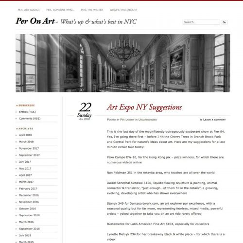 Per On Art. Artexpo NY Suggestions