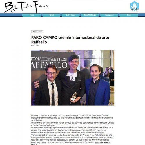 Bytheface. Pako Campo premio internacional de arte Raffaello
