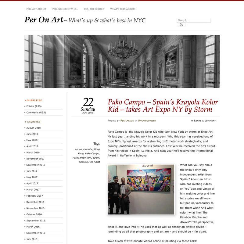 Per On Art. Pako Campo - Spain's Krayola Kolor Kid - takes Artexpo NY by Storm