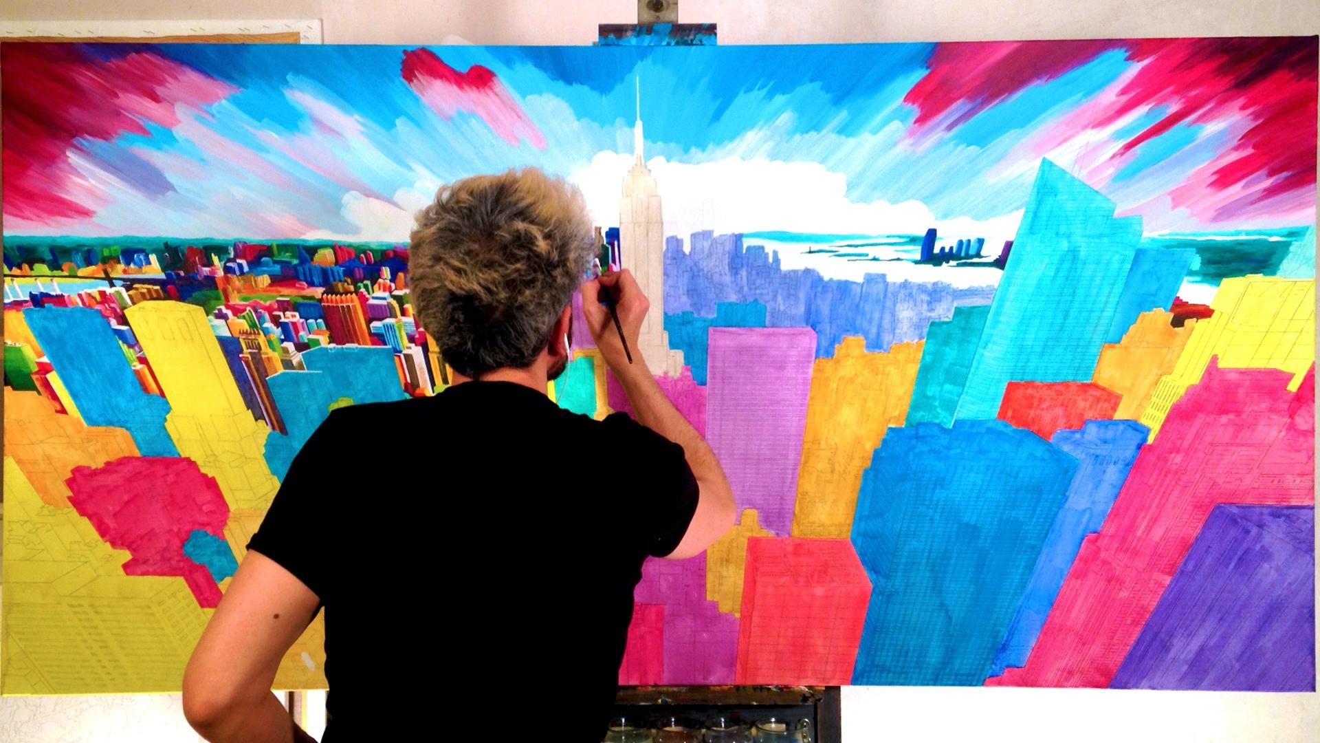 Diario La Rioja. La pintura de Pako Campo. Time lapse con el pintor riojano