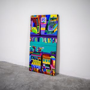 Westerdok - Acrylic diptych on wood by Pako Campo
