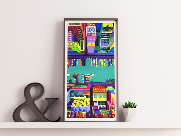 Westerdok - Limited edition giclée print by Pako Campo