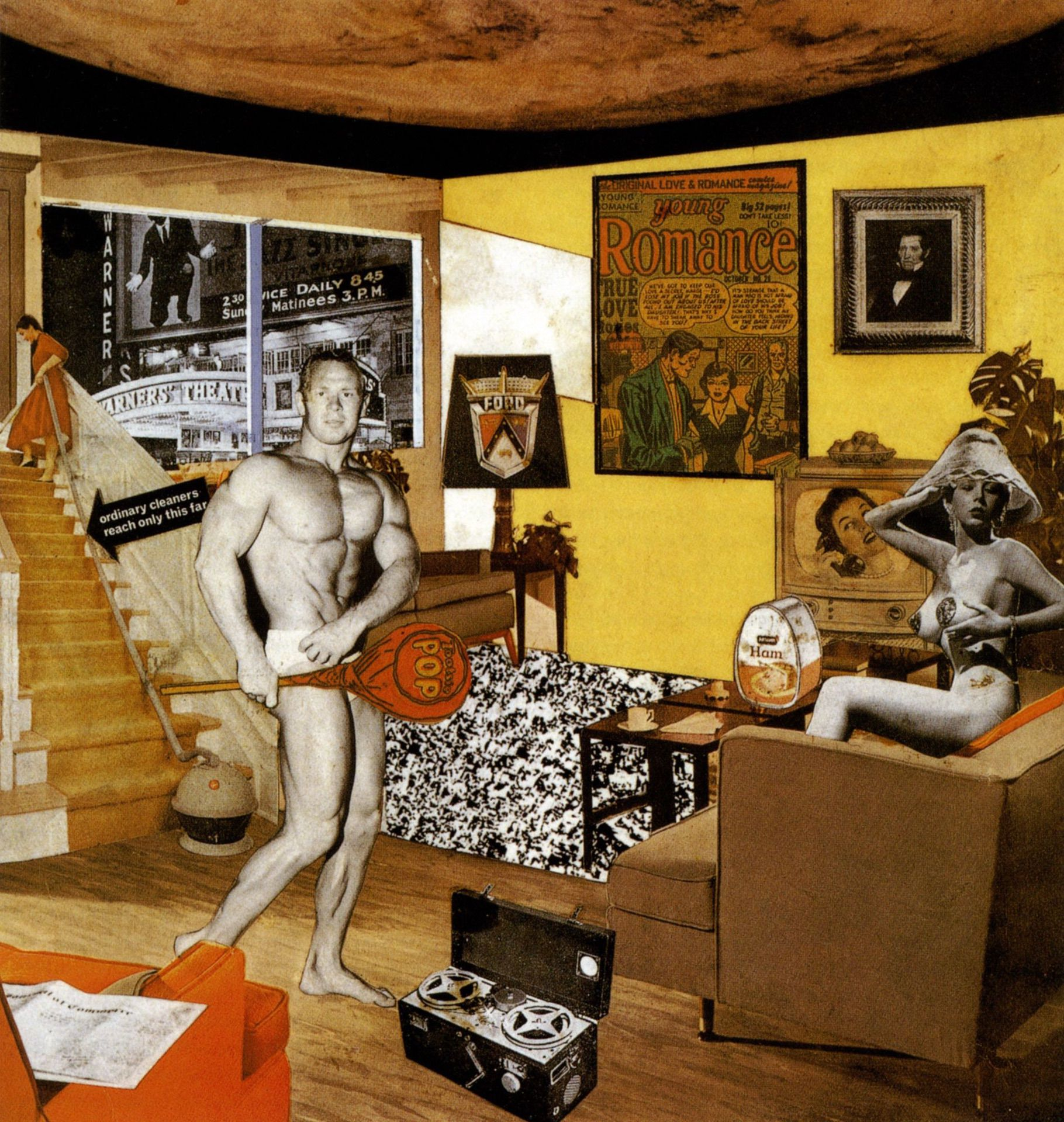 Just what is it that makes today's homes so different, so appealing? (1956) by Richard Hamilton - Pako Campo