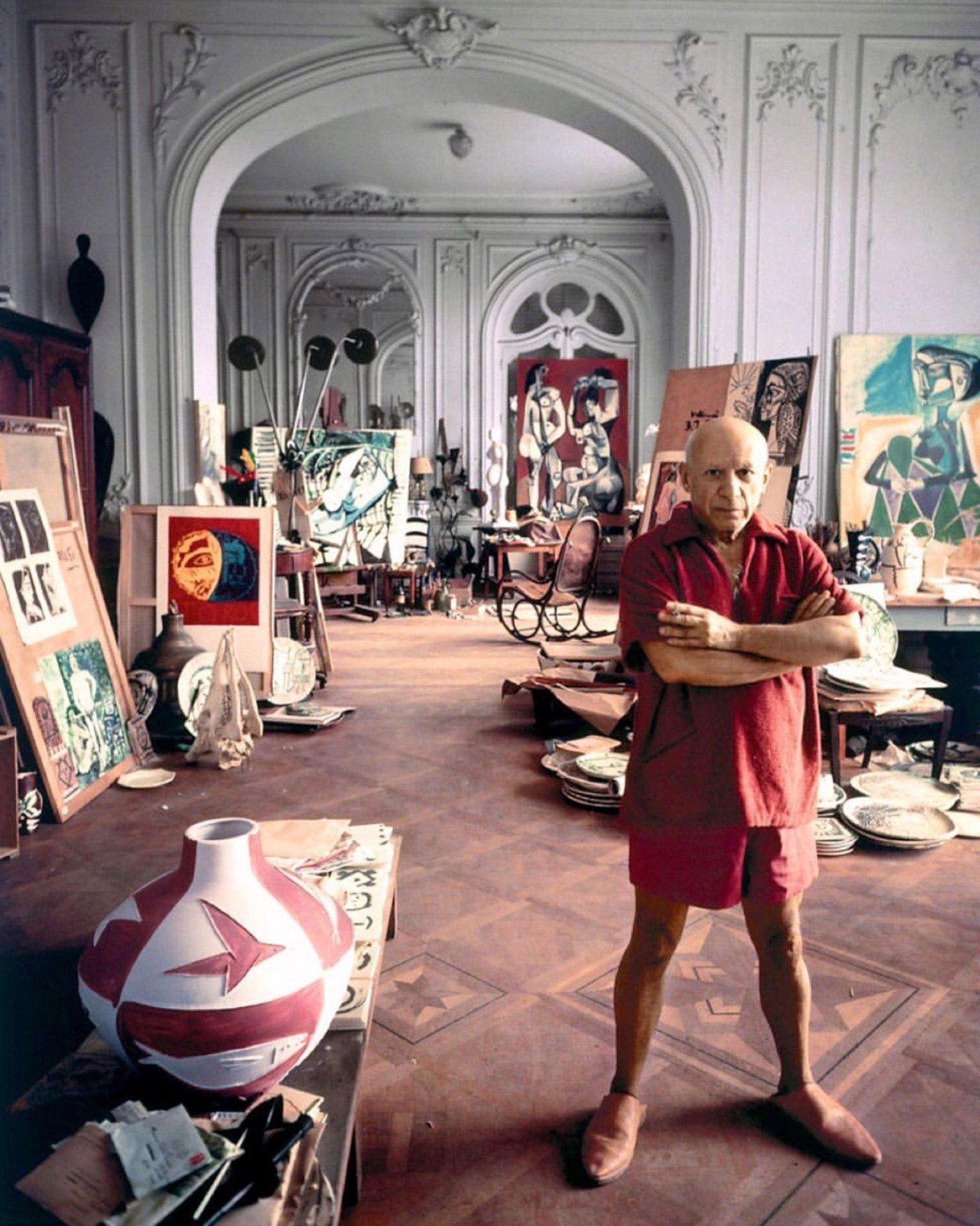 Picasso in his studio - Pako Campo