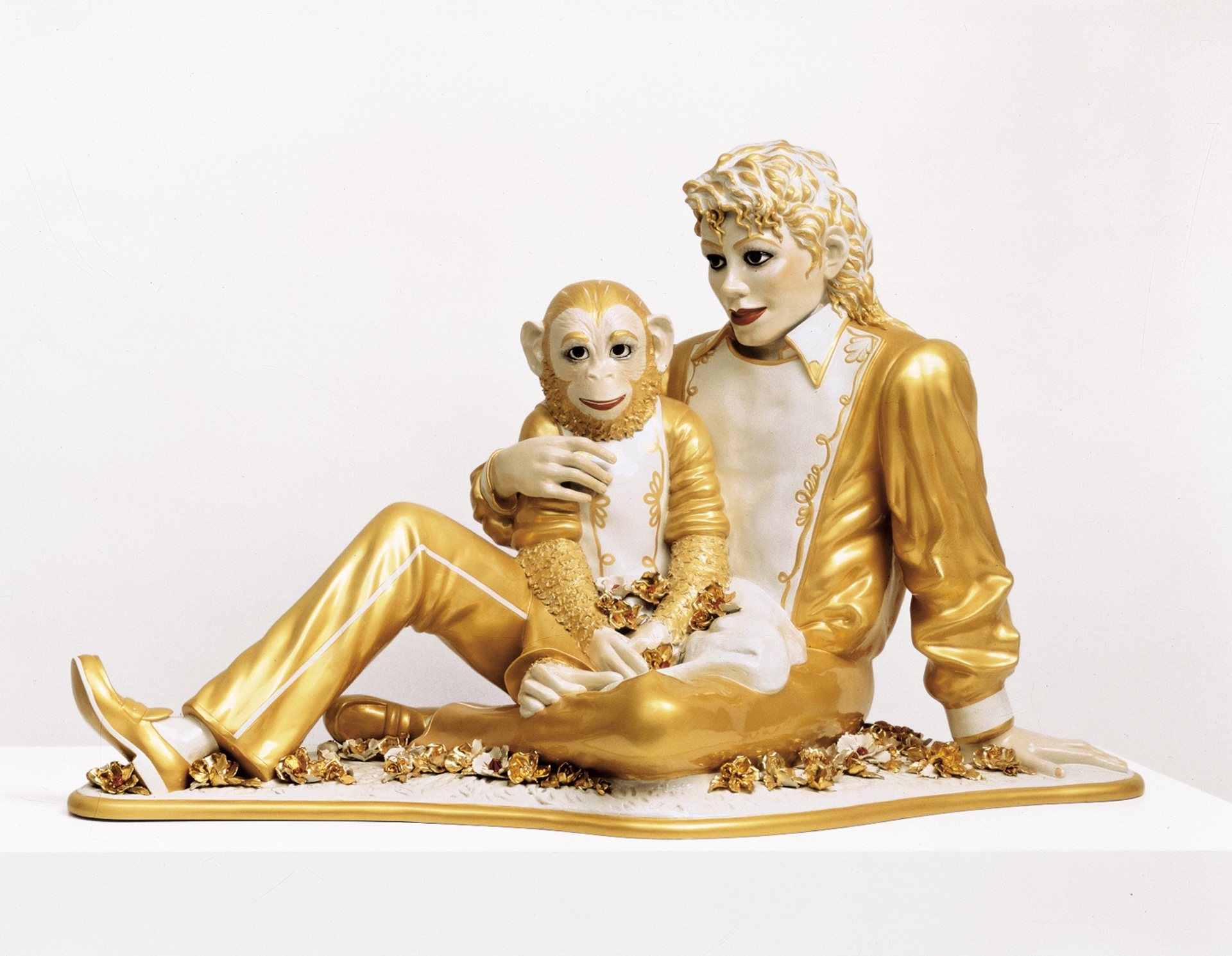 Michael Jackson and Bubbles (1988) by Jeff Koons - Pako Campo