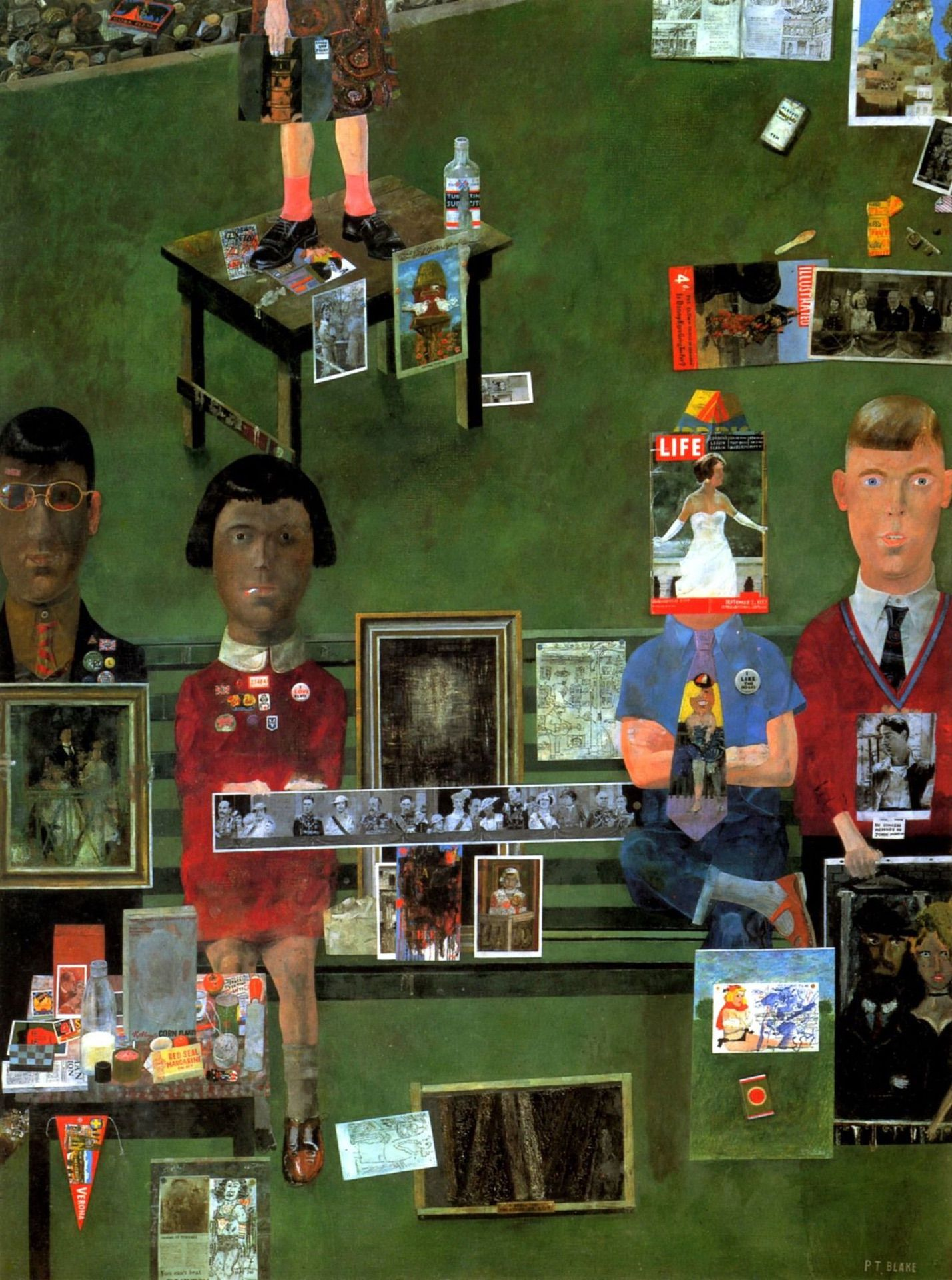 On the Balcony (1957) by Peter Blake - Pako Campo