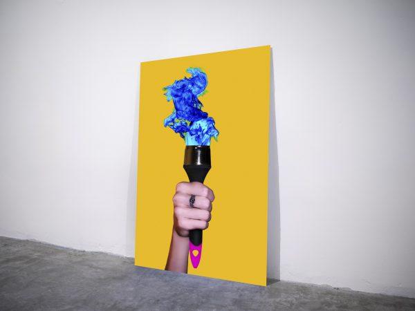 Torchbrush - Visual art on acrylic glass by Pako Campo