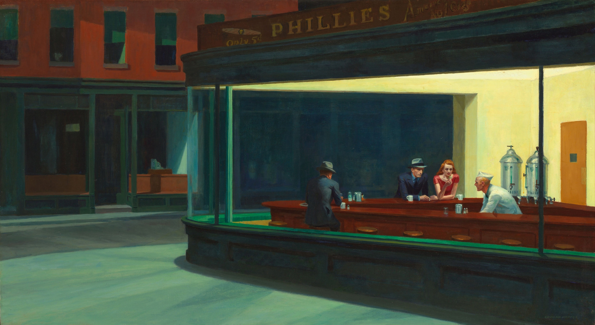 Nighthawks (1942) by Edward Hopper - Pako Campo
