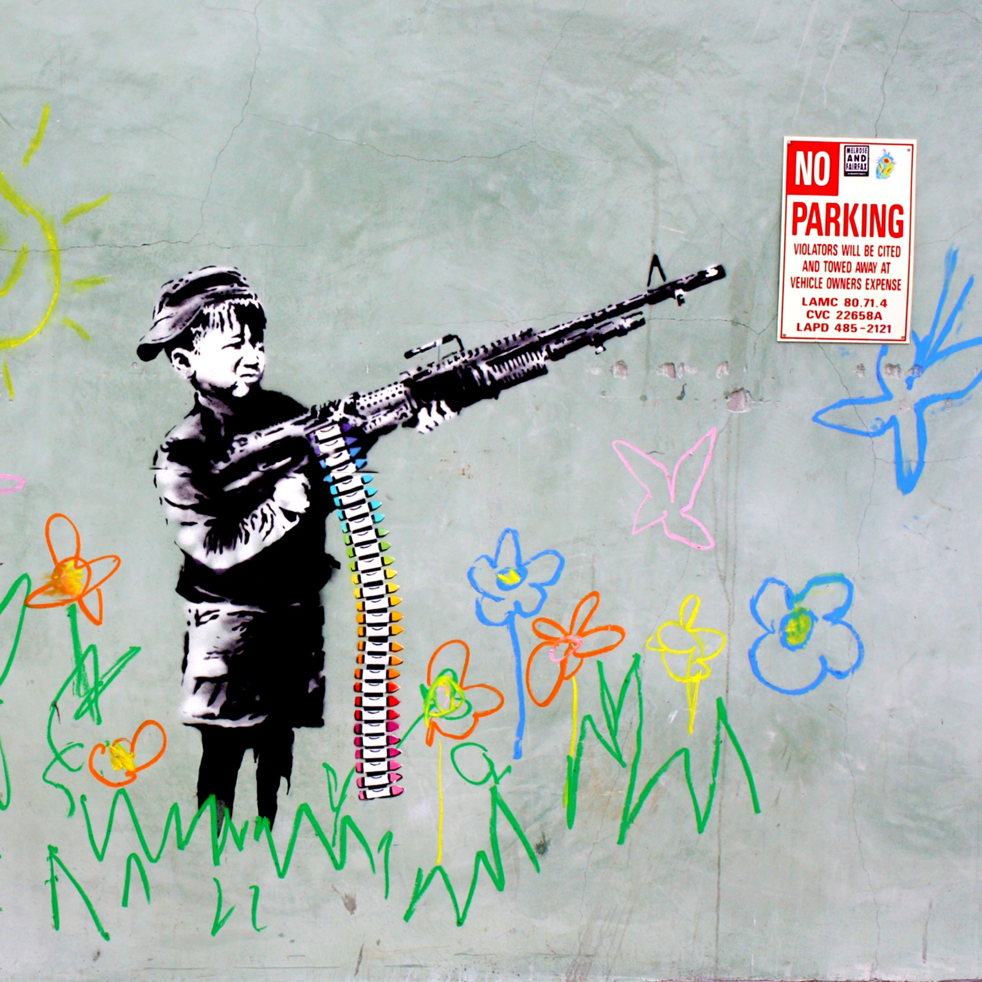 Boy with crayon gun (2011) by Banksy - Pako Campo