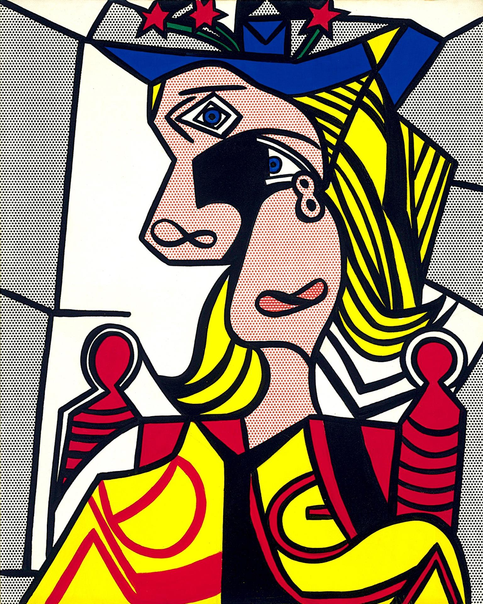 Woman with flowered hat (1963) by Roy Lichtenstein - Pako Campo
