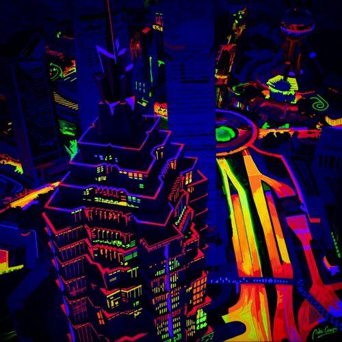 Shanghai Kolor (2019) (Night view) by Pako Campo