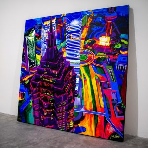Shanghai Kolor - Acrylic painting on canvas by Pako Campo