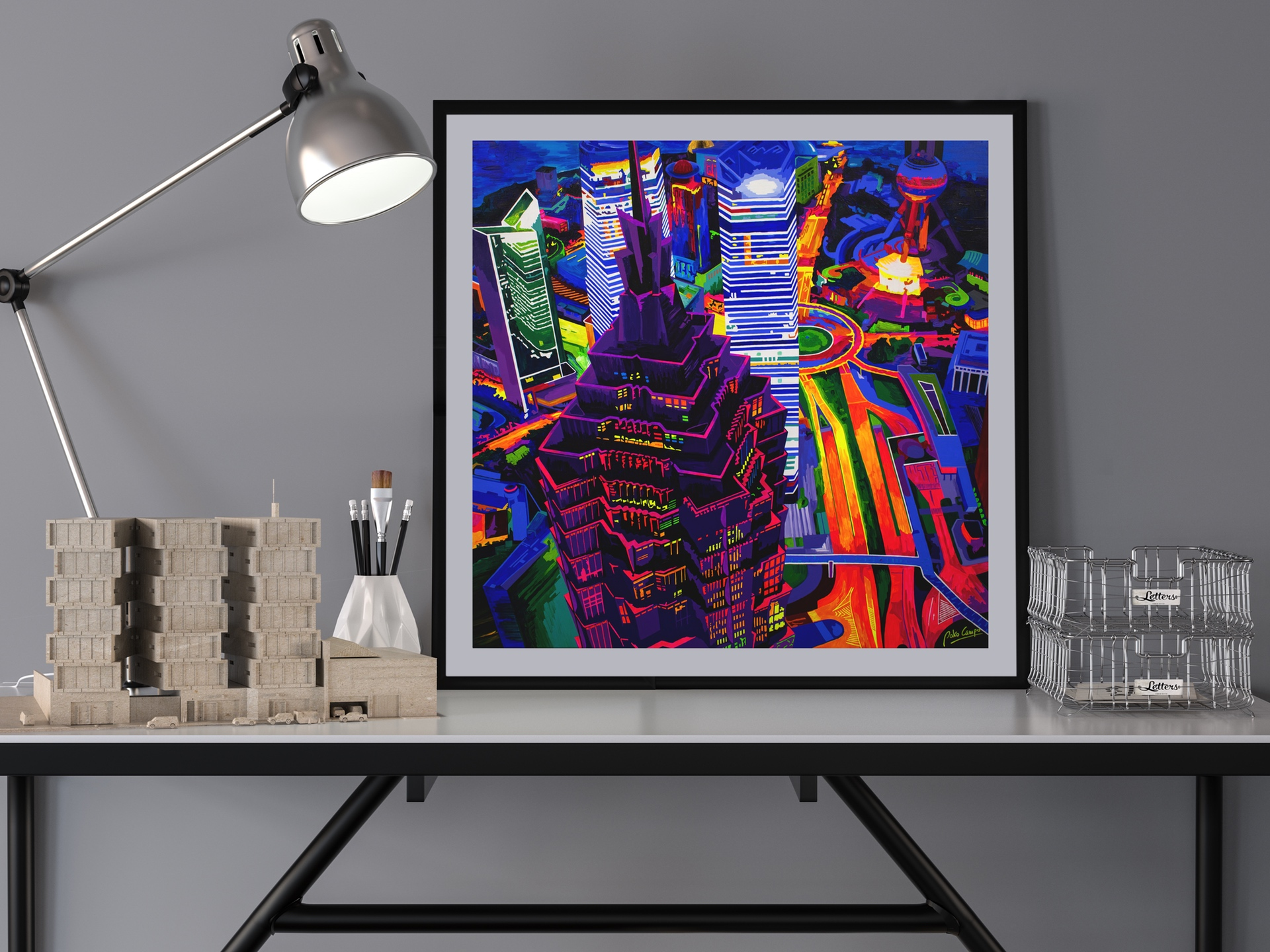 Shanghai Kolor - Limited edition giclée print by Pako Campo
