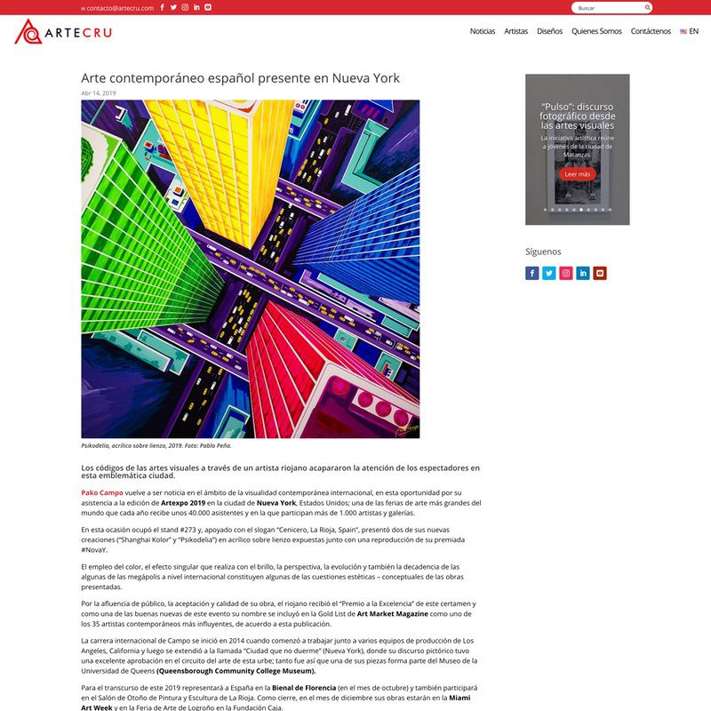 ArteCru. Arte contemporáneo español presente en Nueva York
