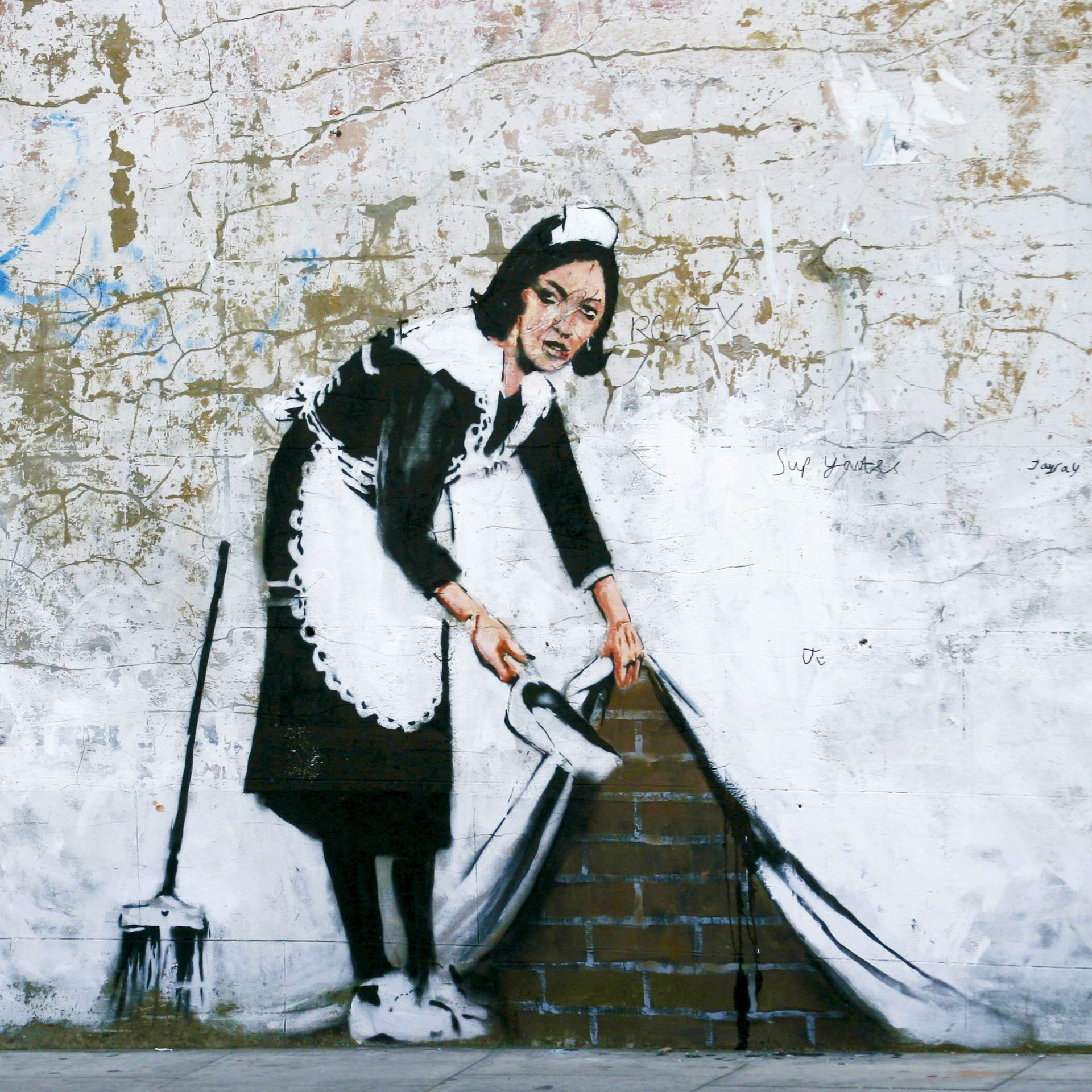 Sweep it Under the Carpet (2006) by Banksy - Pako Campo