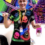 Glowing artist at Fluorescence Biennale