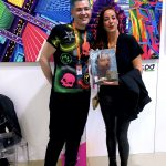 Pako Campo & Dafna Navarro, editor-in-chief of Art Market Magazine at Fluorescence Biennale