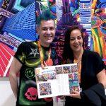 Pako Campo & Dafna Navarro, editor-in-chief of Art Market Magazine at Fluorescence Biennale