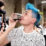 The god Bacchus drinks coke at Fluorescence Biennale