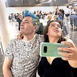 Striking a pose with artist Débora Caro at Fluorescence Biennale