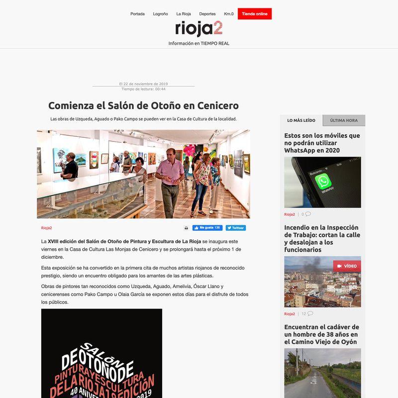 Rioja2. Comienza el Salón de Otoño en Cenicero