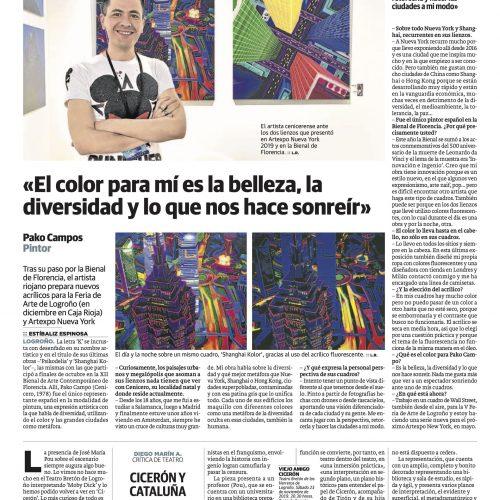 Diario La Rioja. El color para mí es la belleza, la diversidad y lo que nos hace sonreír (Printed edition)