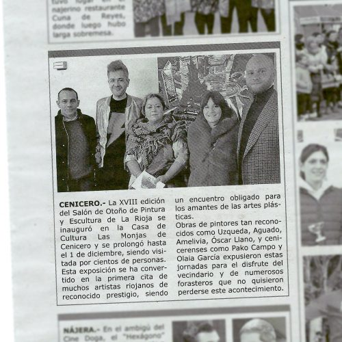 Diario La Voz del Najerilla. XVIII Salón de Otoño (Printed edition)