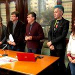 Fundación Caja Rioja. Pako Campo, Óscar Cenzano, Javier Garrido, Raquel Marín y Vicente Peiró, en la Feria de Arte