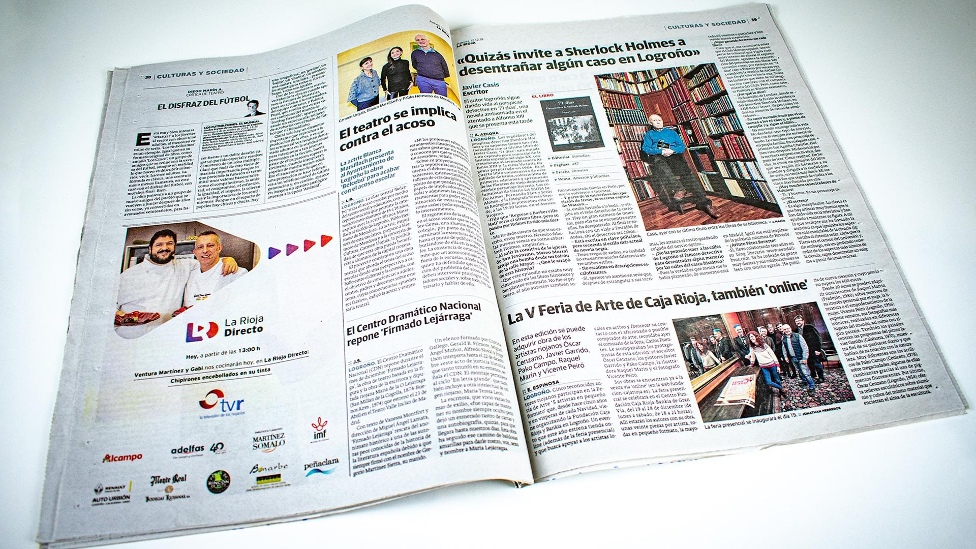 Diario La Rioja. La V Feria de Arte de Caja Rioja, también 'online'
