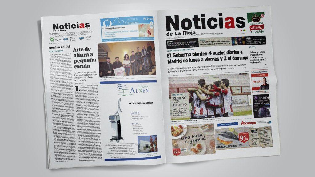 Noticias de La Rioja. Arte de altura en pequeña escala (Printed edition)