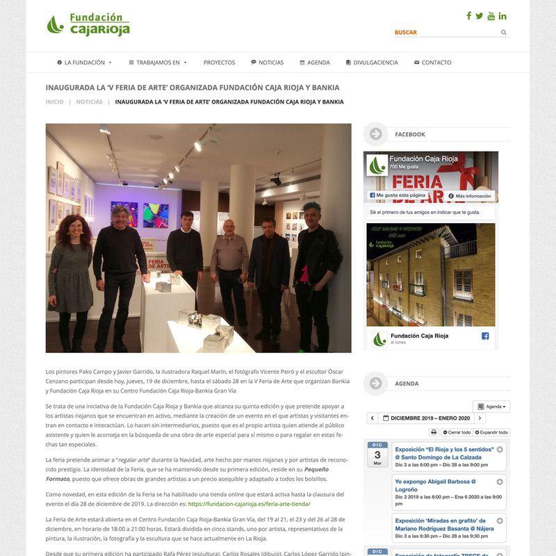 Fundación Caja Rioja. Inaugurada la 'V Feria de Arte' organizada Fundación Caja Rioja y Bankia