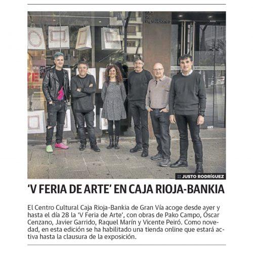 Diario La Rioja. 'V Feria de Arte' en Caja Rioja-Bankia