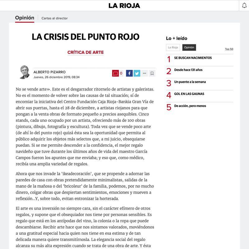 Diario La Rioja. La crisis del punto rojo (Digital edition)