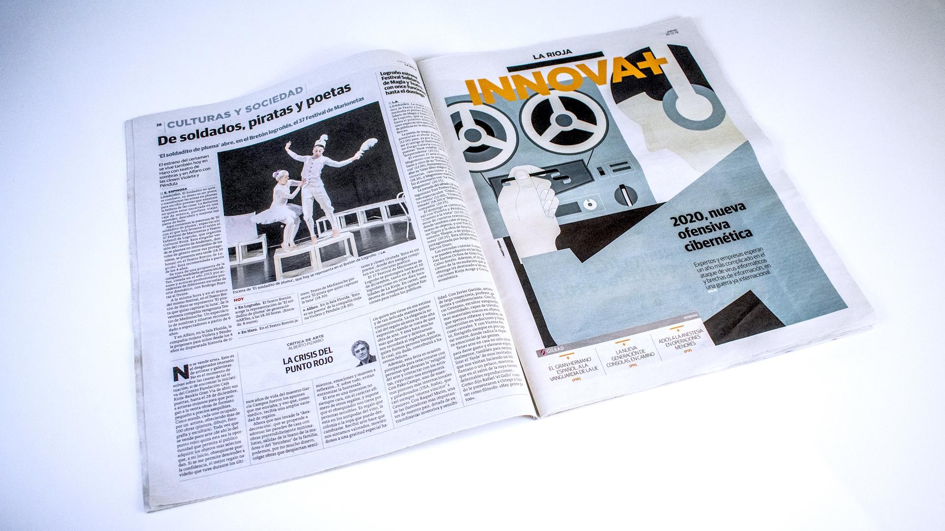 Diario La Rioja. La crisis del punto rojo (Printed edition)